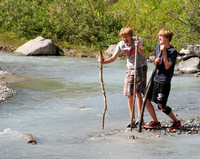 They wanted the log to anchor their new bridge, but it floated downstream instead!